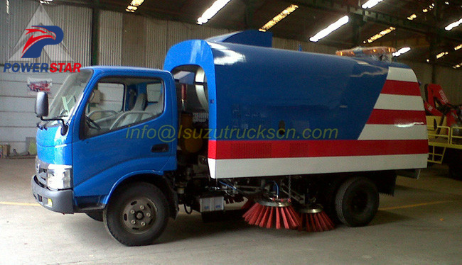 Road sweeper kit sweeper truck up structure case stury pictures