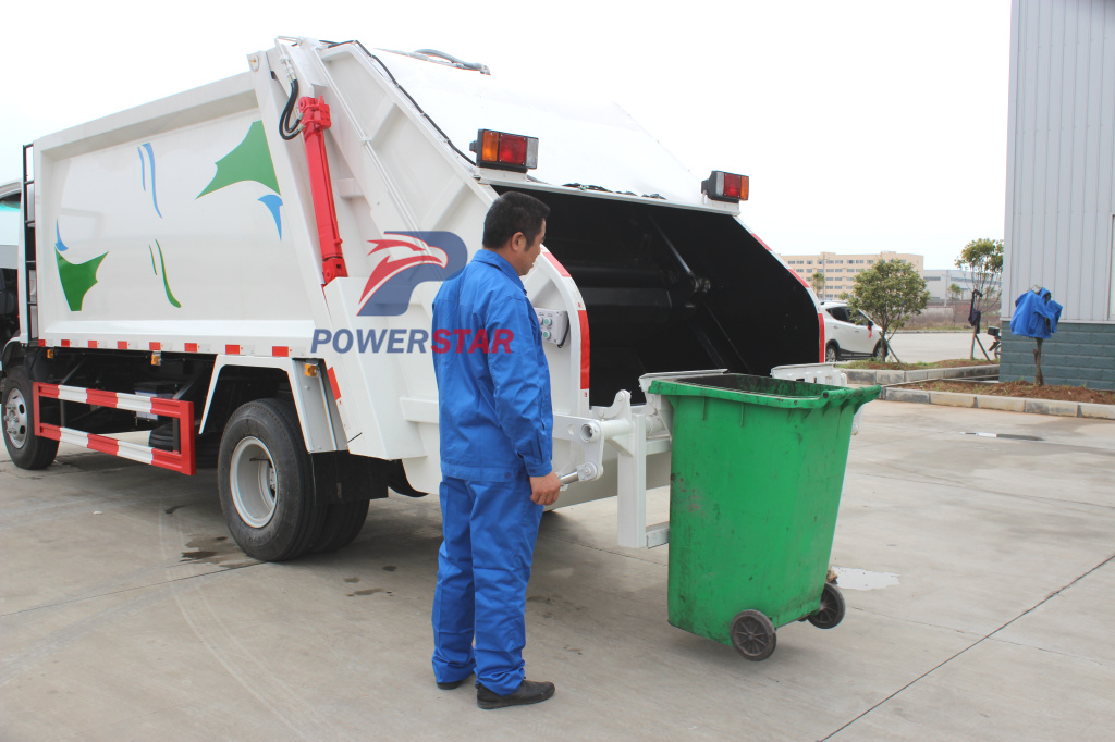 how to operation garbage compactor truck?
