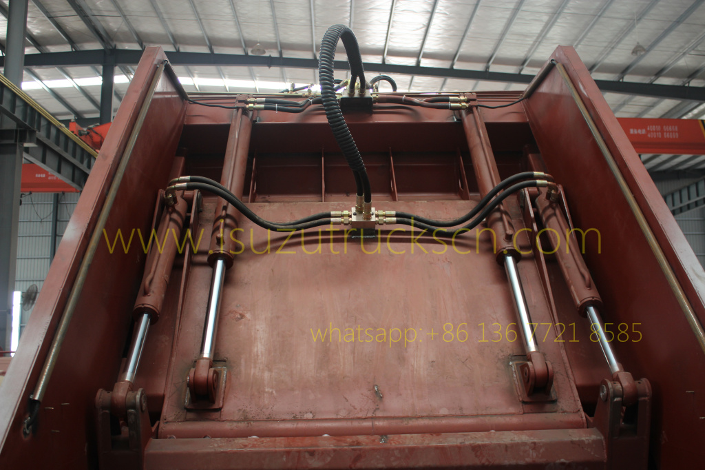 Customer made up structure of Garbage Compactor Truck Body Kit specification and photo