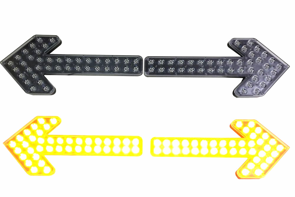 LED Arrow light for road sweeper trucks