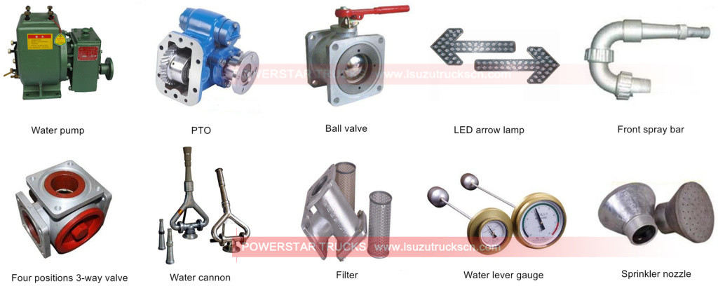 Water tank trucks spare parts list by powerstar trucks