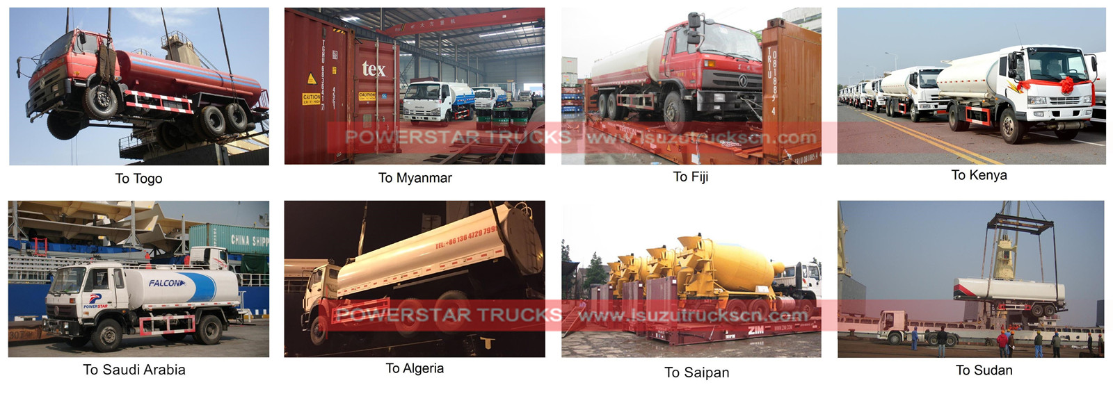 fuel bowser for export by powerstar trucks