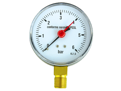 Pressure gauge for refuse compactor trucks