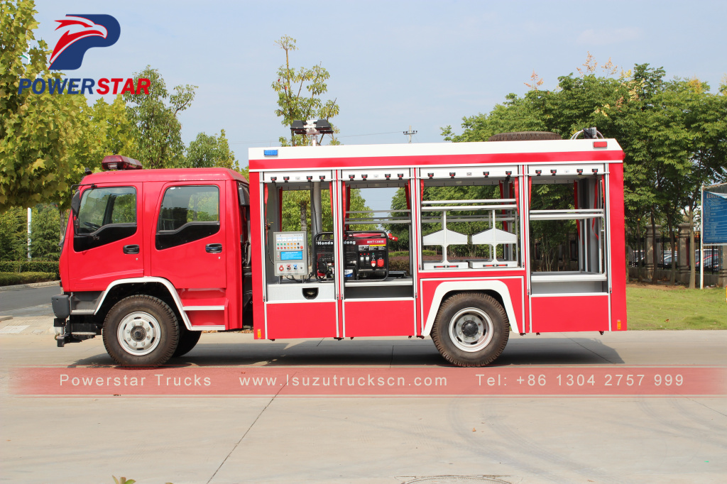 2018 good quality Isuzu Emergency Rescue Vehicle Fire Truck for sale