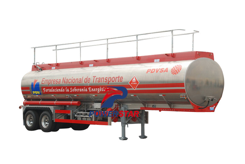 China best price 50m3 aluminum alloy fuel tank semi trailer manufacturer supplier