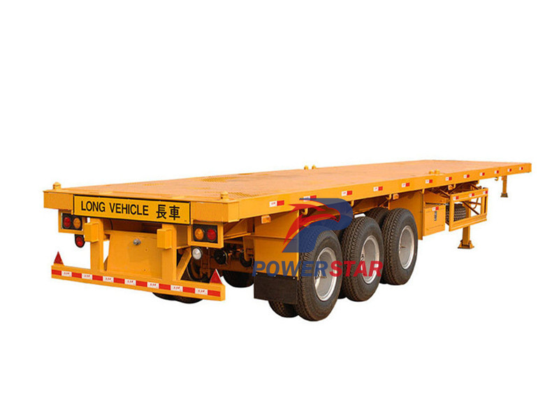china low price 12.5m Length 40FT Tri-axle Flatbed Trailer manufacturer