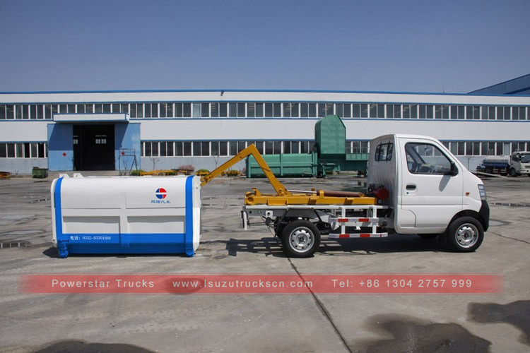 Brand new Good Quantity Powerstar trucks official 1t 1.5t Detachable container garbage collector Garbage Truck