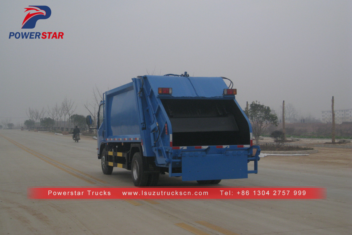 Djibouti 8cbm refuse compactor with Isuzu truck chassis for sale