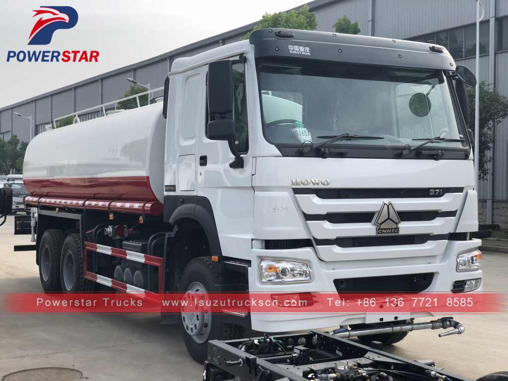 20cbm low price HOWO water bowser tank trucks for Philippines market
