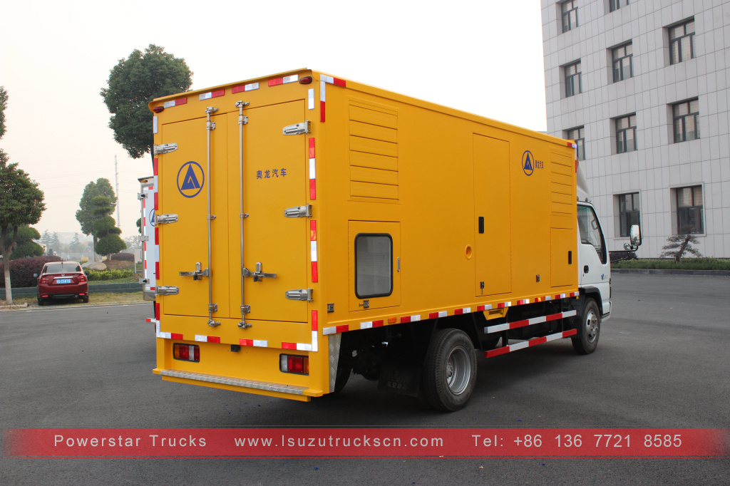 Japan 4x2 mobile emergency power supply truck ISUZU FOR SALE