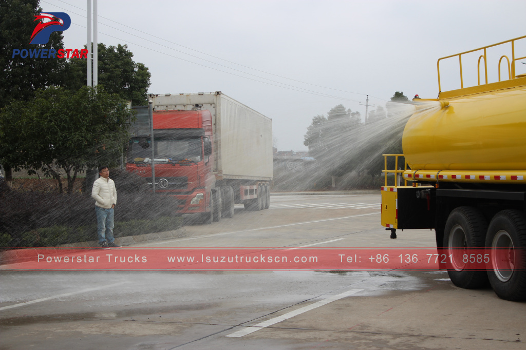 ISUZU FVZ road sprinkler water tank fire truck 14000L water bowser truck for sale