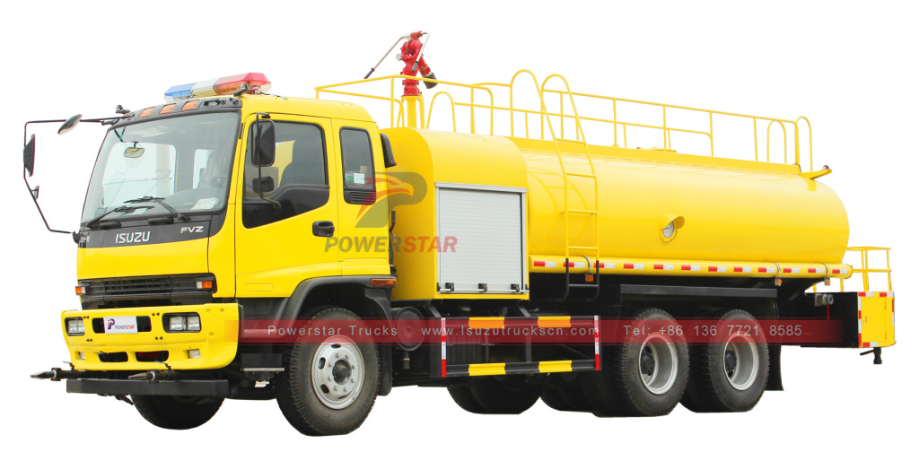 Philippines ISUZU water fire tanker trucks