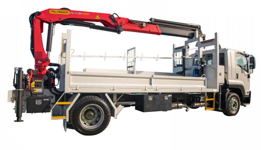 Japan Isuzu brand Knuckle Boom Truck Mounted Crane