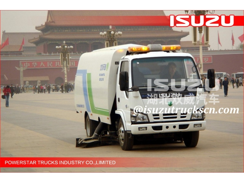 Satisfying 5m3 Pure Vacuum Suction Sweeper Isuzu Dirty suction Vehicle Online