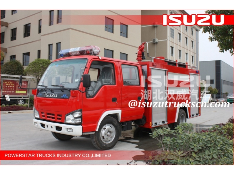 Nigeria 2000L ISUZU Water Fire Trucks Water supplier isuzu fire tender