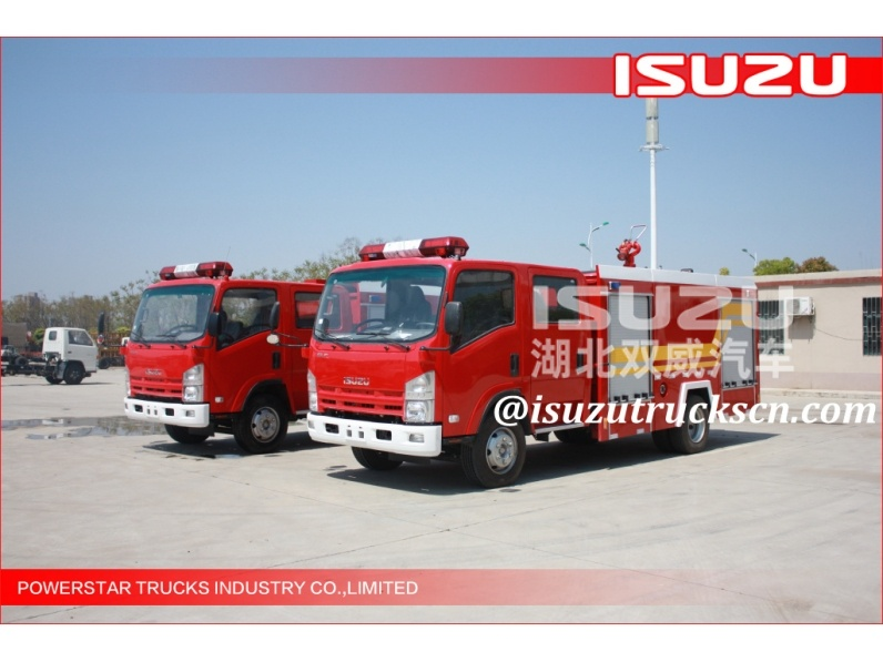 Japanese Original ELF ISUZU Water Foam Fire Fighting Trucks