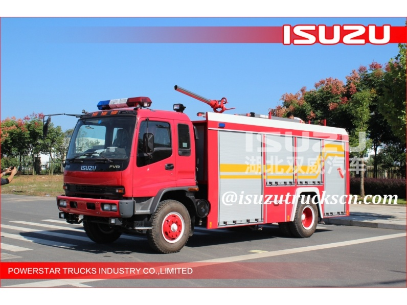 Armenia custom made FVR Isuzu Foam Water fire trucks