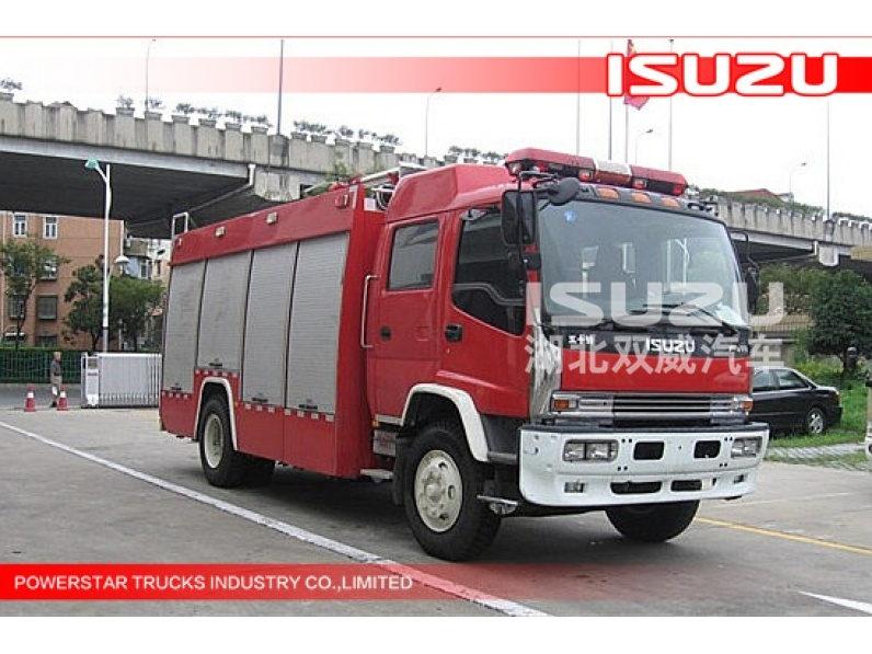 good quality 8000L FVR ISUZU 4x2 Water/Foam Fire Vehicle for sale