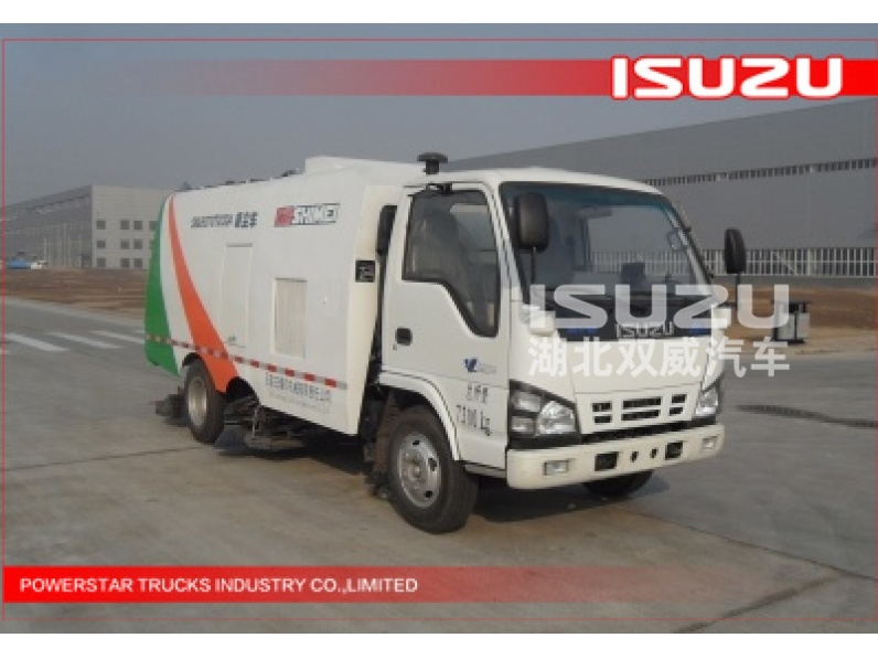 Japanese 88KW Isuzu 4KH1-TCG40 vacuum sweeper Truck mounted street sweeper  for sale
