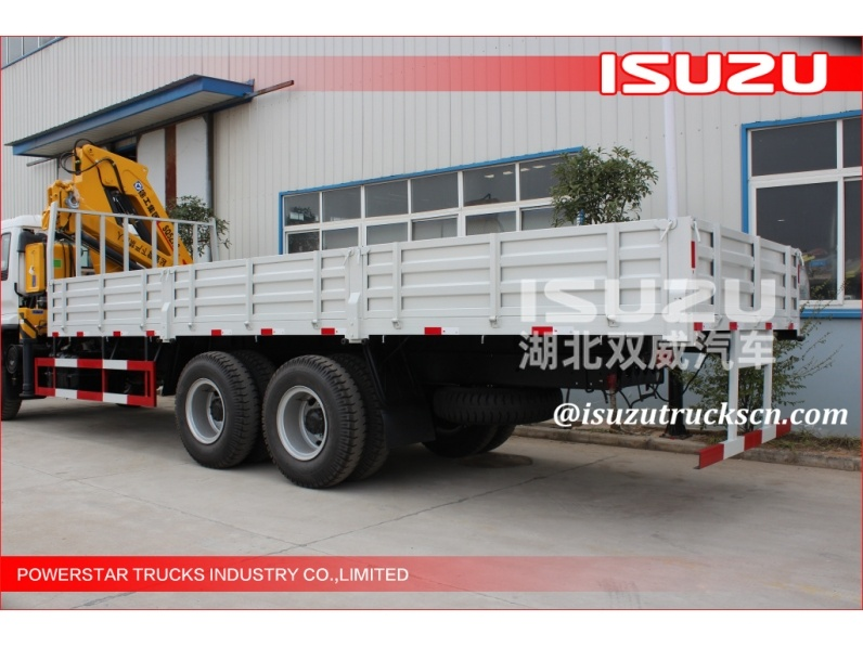 Isuzu chassis Hydraulic 12 ton Cargo Lorry-Mounted Crane With Telescopic Boom for sale