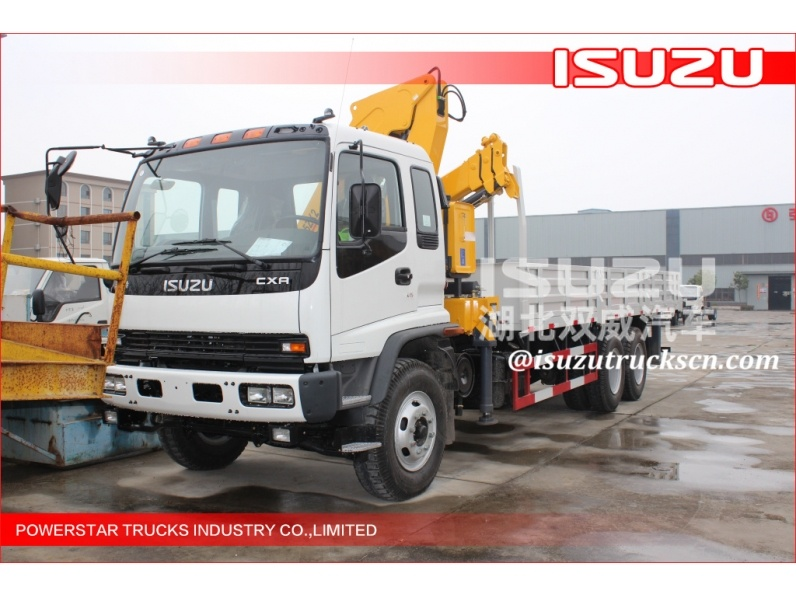 Isuzu 4 ton truck crane / truck mounted crane for sale