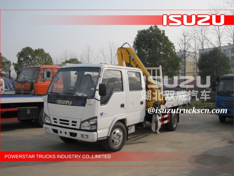 Small Folding Lorry Truck Crane, Light Knuckle boom Crane