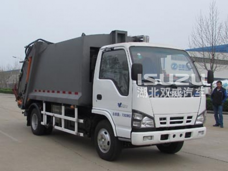 newly environmental waste garbage compactor truck ISuzu