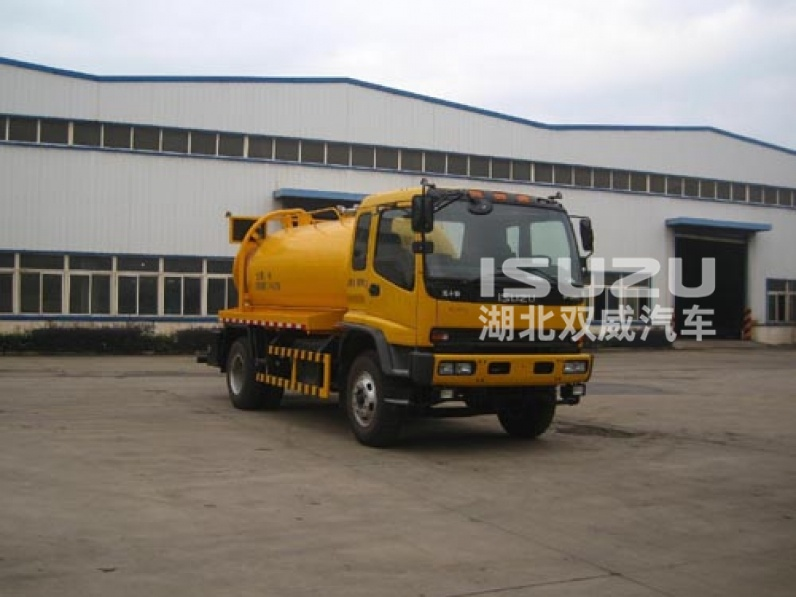 5-8m3 iSUZU high-pressure sewer dredging and cleaning vehicle