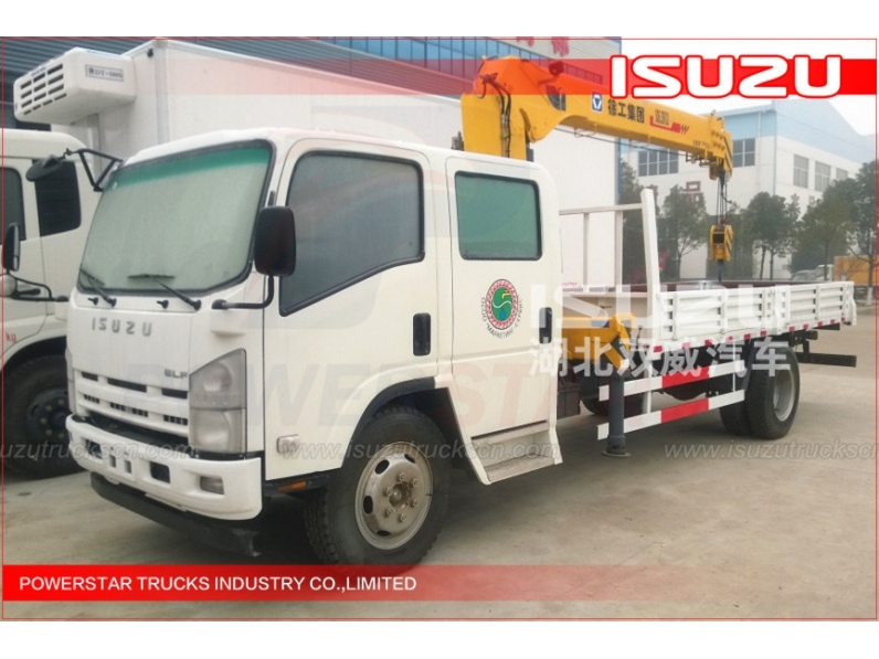 ISUZU Truck Crane Feature Double Cabin Isuzu trucks with Lifting Crane