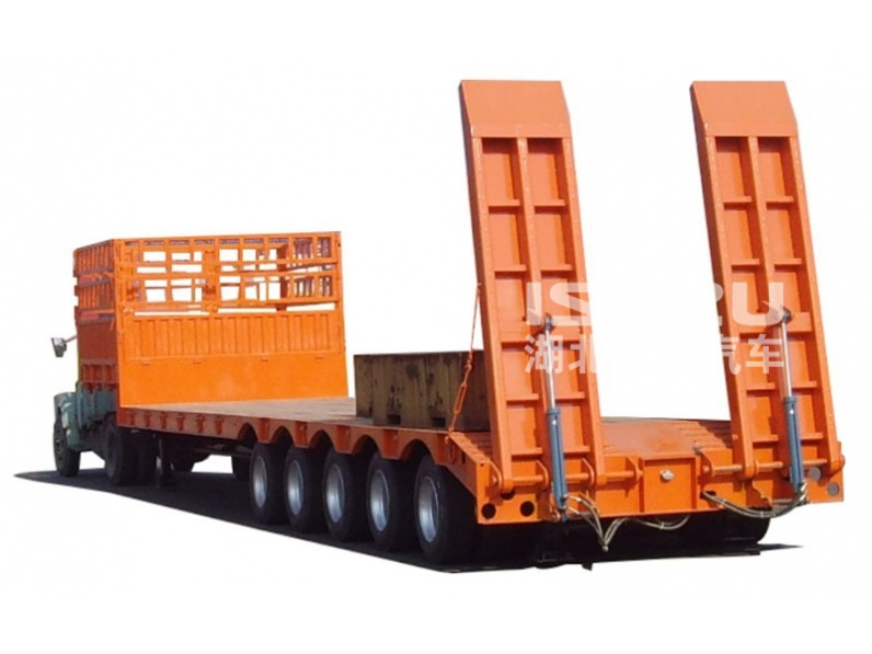 China heavy duty 5 lines 6 lines multi axles hydraulic low bed semi trailer