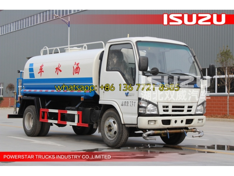 Small ISUZU Water Carrying Truck, 5ton 5cbm 5000liters 6 Wheels Water Tank Truck, Mini Water Truck for Sale