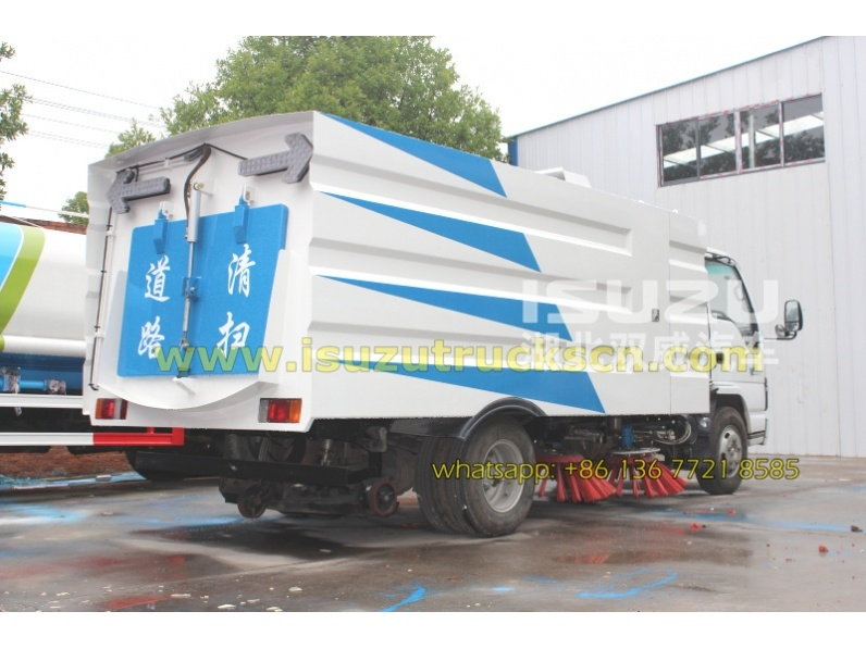 Philippines market High Performance Isuzu Road Sweeper Trucks