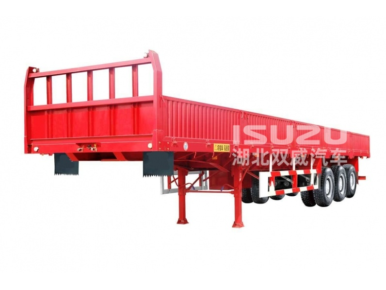 China hot sale 3 axle flatbed side wall semi truck trailer and 6x4 HINO tractor truck