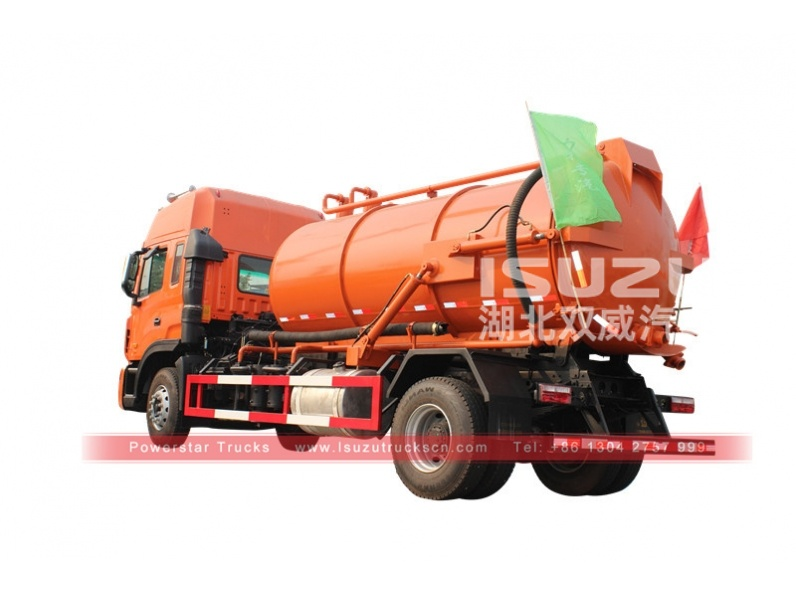 Vacuum Suction Sewage Tanker 4x2 sewage pump sewage suction truck