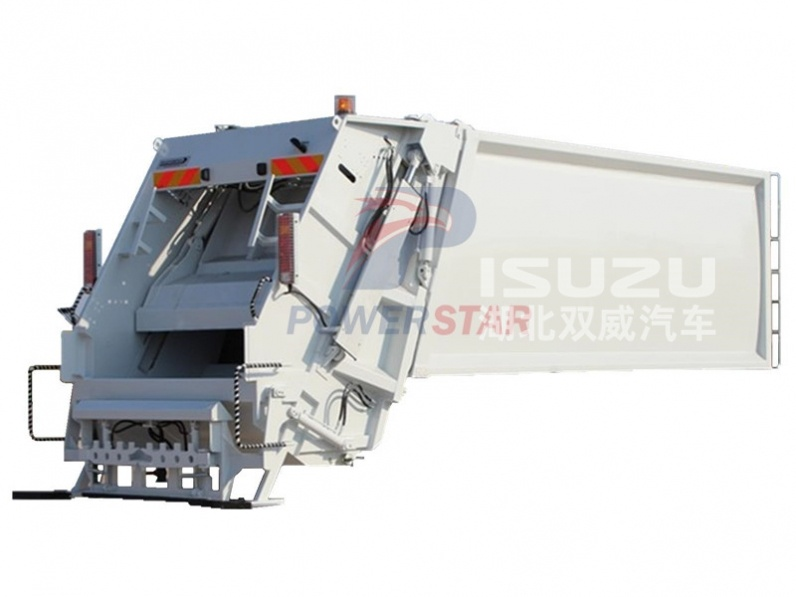 refuse truck with hydraulic compactor system for sale