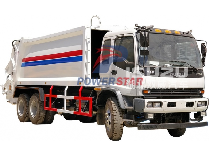 haiti Garbage compactor recyling truck Isuzu for sale