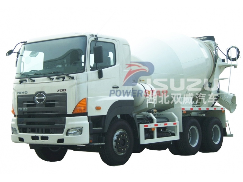 Philippines 10cbm 9cbm 8CBM hino concrete mixer truck for sale