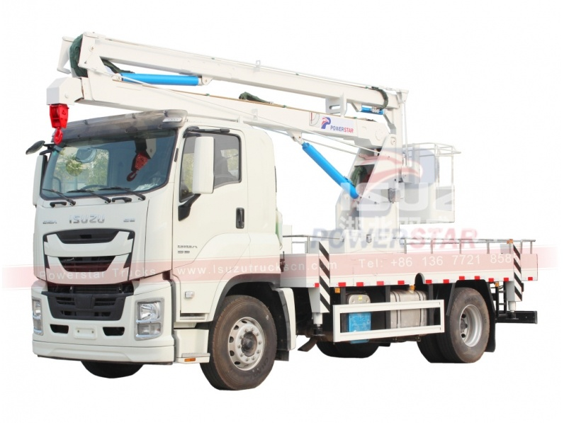 Armenia ISUZU 20 meters aerial platform truck with folding manlift