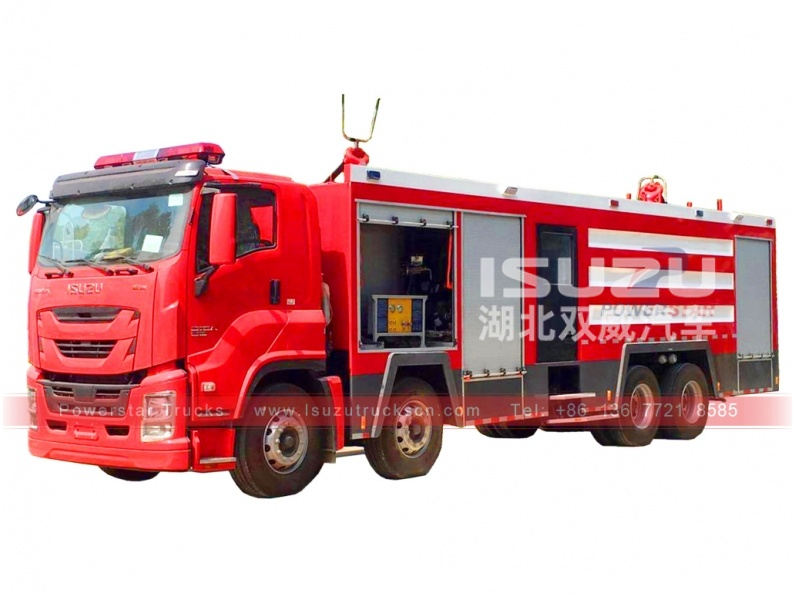 GIGA ISUZU Water/Foam/Dry Powder Monitor Fire Truck