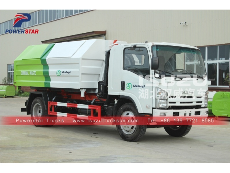 Mongolia Hooklift Refuse Collection Garbage Truck