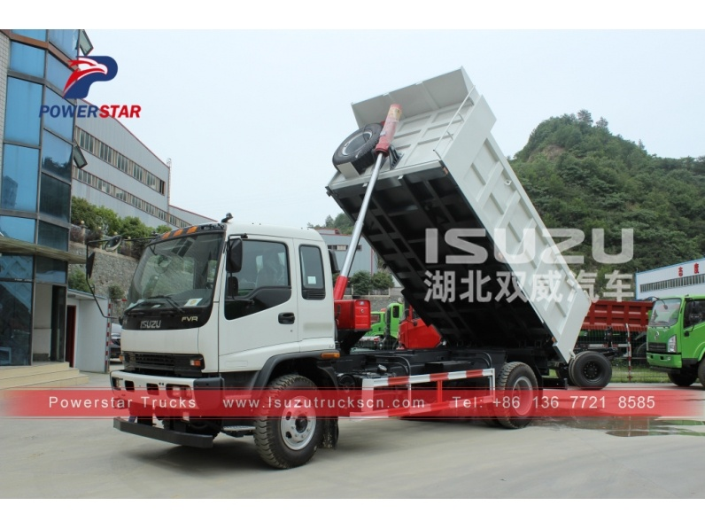 Philippines ISUZU FTR FVR heavy duty dump tipper trucks for sale