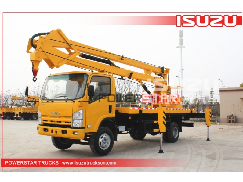 4x2 Syria 6wheels 19m Isuzu Aerial work platform truck with working cage manufacturer