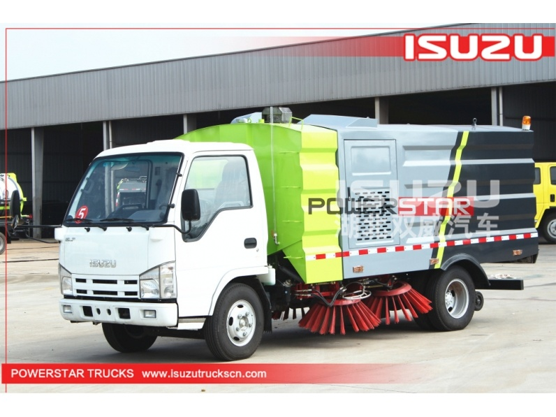 Isuzu brand 4x2 street road sweep truck sweeper sweeping vehicle for public roads