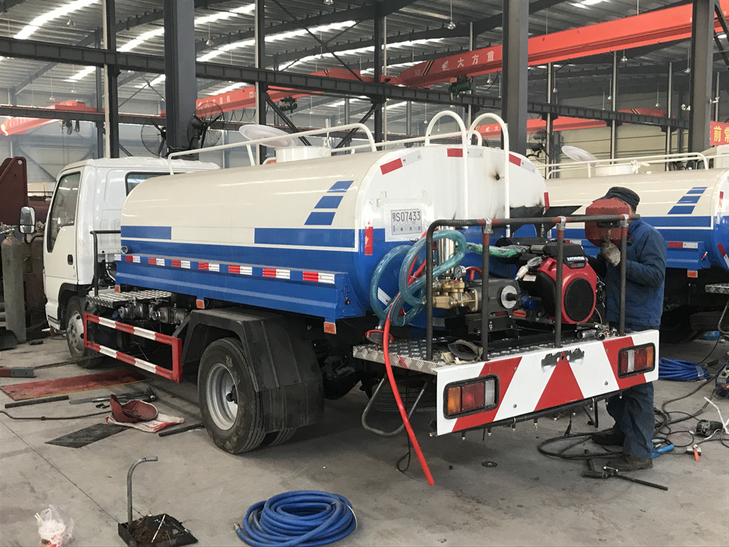 5cbm brand new isuzu water bowser tank trucks для продажи Филиппины